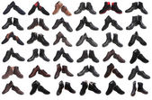 Plenty of different male shoes — Stock Photo