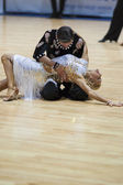MINSK-BELARUS, MAY, 18: Unidentified Dance couple performs ADULT — Stock Photo