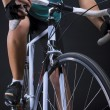Race bike closeup. isolated over black — Stock Photo #28040333