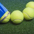 Постер, плакат: Tennis concept: tennis balls out of a container