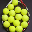 Tennis Racket with Tennis balls — Stock Photo #31815959