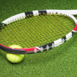 Stock Photo: Tennis Racket with Ball