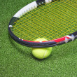 Tennis Racquet with Ball — Stock Photo #31816403
