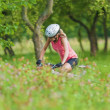 Young Female Cyclist practicing — Stock Photo #31825089
