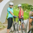 Happy Femal Cyclists — Stock Photo #31825881