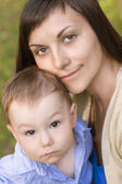 Mother and a Son — Stock Photo