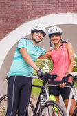 Happy Femal Cyclists — Stock Photo