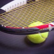 Tennis Racket with Tennis Ball — Stock Photo #31835063