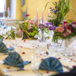 Restaurant Table Served for Wedding — Stock Photo