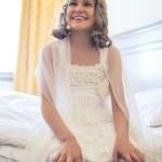 Little Smiling Caucasian Girl — Stock Photo