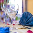 Wineglasses Prepared for Wedding Event — Stock Photo