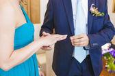Exchanging of Wedding Rings — Stock Photo