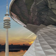 BMW Welt -World- Building Combined with olympia Park Tower, Muni — Stock Photo