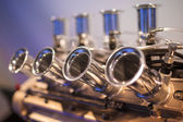Car Engine Pipes Closeup Detailed View — Stock Photo