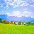 Alone House of a German Village in Bavarian Alps — Stock Photo