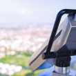 Guest tourist binoculars at Olimpiapark Tower in front of aerial — Stock Photo #38056821