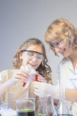 Experimenting in Laboratory — Stock Photo