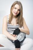 Smiling Caucasian Teenage Girl — Stock Photo