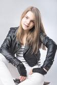 Teenage Girl Portrait wearing Street Clothes — Stock Photo