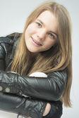 Smiling Positive Teenage Girl — Stock Photo