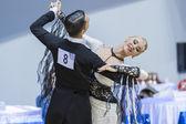 Minsk-belarus, 9 Şubat: tanımlanamayan dans çift gerçekleştiren bir — Stok fotoğraf