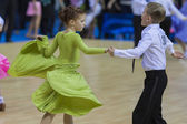 MINSK-BELARUS, FEBRUARY, 9: Unidentified Dance couple performs J — Stock Photo