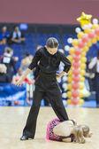 MINSK-BELARUS, FEBRUARY, 9: Unidentified Dance Couple Performs Y — Stock Photo