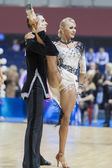MINSK-BELARUS, FEBRUARY, 9: Unidentified Dance Couple Performs A — Stock Photo