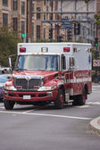 Ambulance Car in City — Stock Photo
