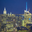 Big Apple Straight After Sunset - New York City at Night — Stock Photo