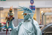 New York, United States-Octrober  10: Human Statue Dressed as th — Stock Photo