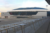 Minsk Velodrome Sport Venue Shot from Stairs of Minsk -Arena Ice — Stock Photo
