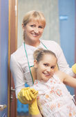 Family Doing Cleaning Together — Stock Photo