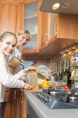 Food Preparation Process — Stock Photo