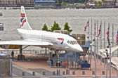 New York,USA - October 10: Supersonic Passenger Airplane Concord — Stock Photo
