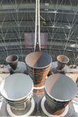 View of the Main Engines of the Space Shuttle Discovery on Displ — Stock Photo