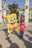 Los Angeles-USA, October, 3: Cartoon Character Sponge Bob Playin — Stock Photo