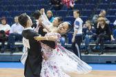 Minsk-Belarus, February, 22: Unidentified Dance Couple Performs  — Photo