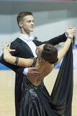 Mińsk, białoruś, luty, 22: niezidentyfikowanych para taniec wykonuje — Zdjęcie stockowe