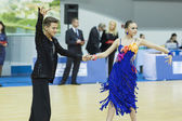 Minsk-Belarus, February, 22: Unidentified Dance Couple Performs  — Stock fotografie