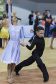 Minsk-Belarus, February, 22: Unidentified Dance Couple Performs  — Stockfoto