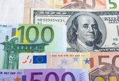 European and the US Hard Currencies Together — Stock Photo