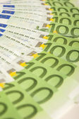 European Currency Banknotes Placed Circular — Stock Photo