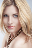 Passionate Blond Woman Look — Stock Photo
