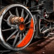 Stock Photo: Closeup train wheel