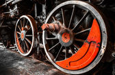 старый поезд колеса — Стоковое фото