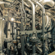 Large industrial turbine closeup photo — Stock Photo