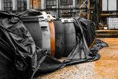 Several barrels — Stock Photo
