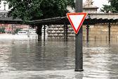 Inundação no rio danúbio, em budapeste — Foto Stock