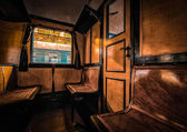 Photo of antique train interior — Stock Photo